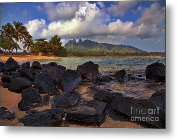 Metal Print featuring the photograph Anahola Beach Park On The Island Of Kauai, Hawaii by Sam Antonio Photography