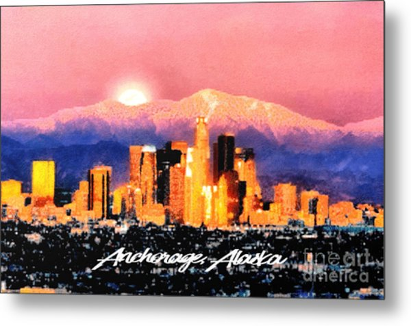 Anchorage - Bright-named Metal Print