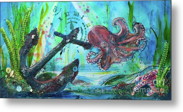 Metal Print featuring the painting Anchors Away by TM Gand