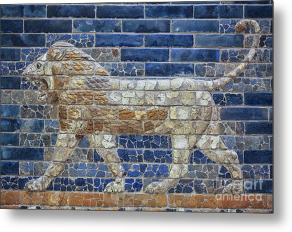 Ancient Babylon Lion Metal Print