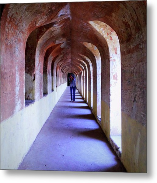 Ancient Gallery At Bada Imambara Metal Print