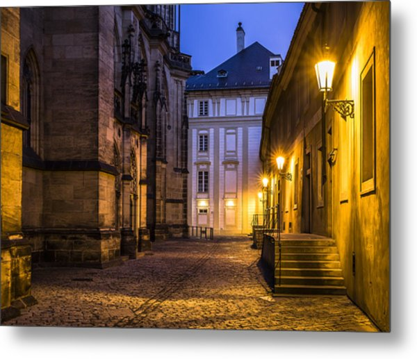 Ancient-like Dawn At Prague Castle Metal Print by Marek Boguszak