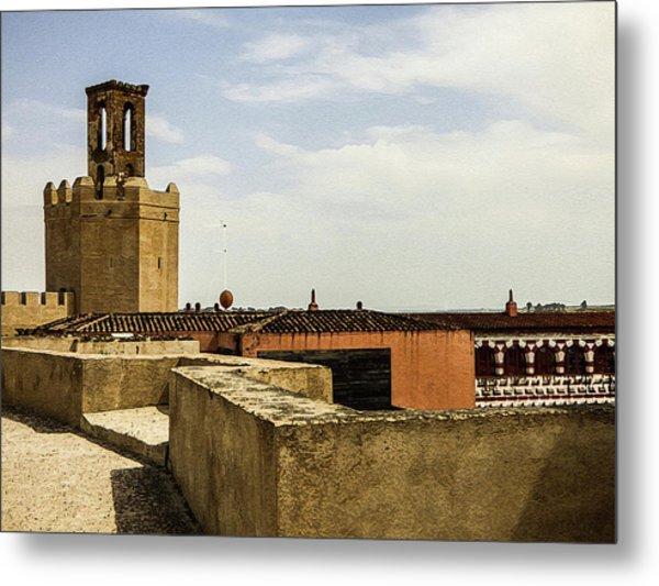 Ancient Moorish Citadel In Badajoz, Spain Metal Print