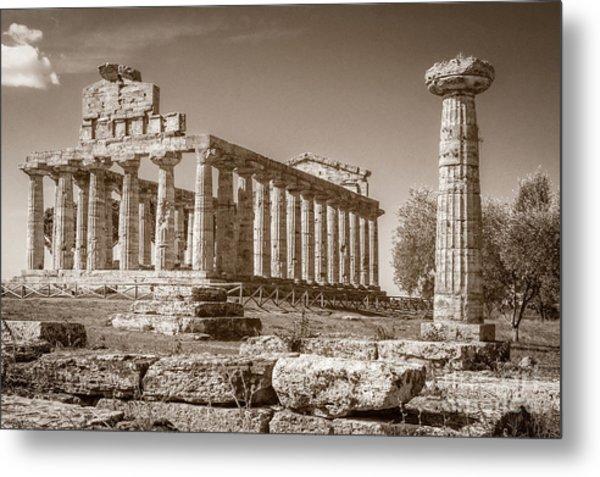 Ancient Paestum Architecture Metal Print