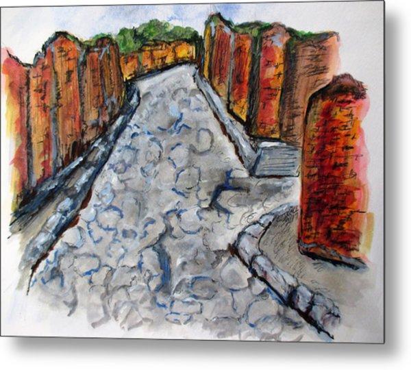 Ancient Street, Pompeii Metal Print