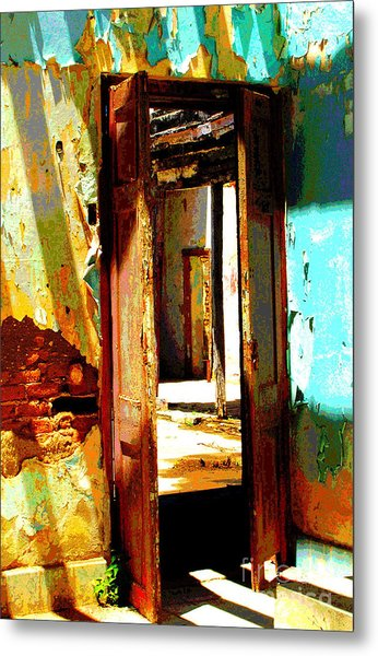 Ancient Wall 9 By Michael Fitzpatrick Metal Print by Mexicolors Art Photography