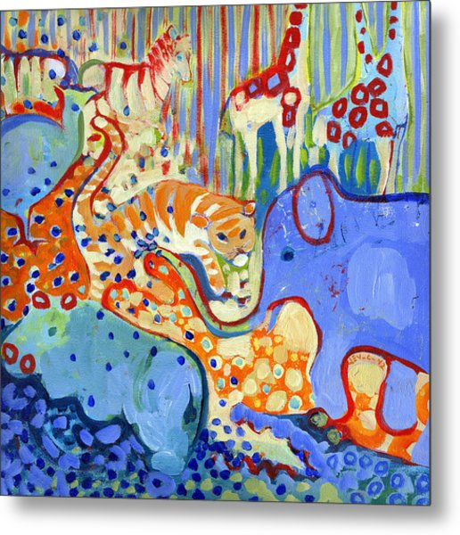 And Elephant Enters The Room Metal Print