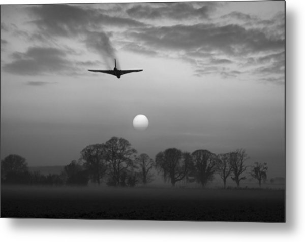 And Finally Black And White Version Metal Print
