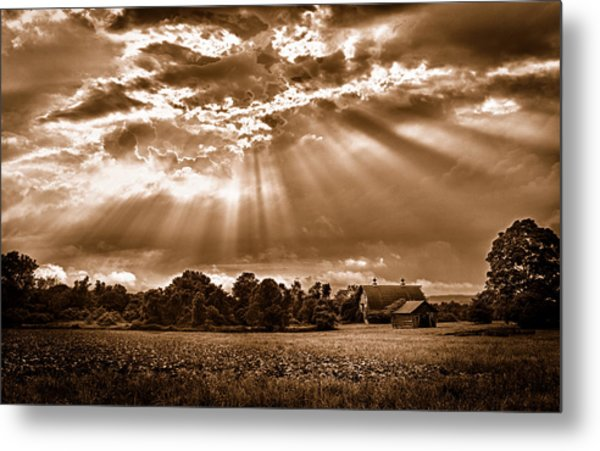 And The Heavens Opened 3 Metal Print