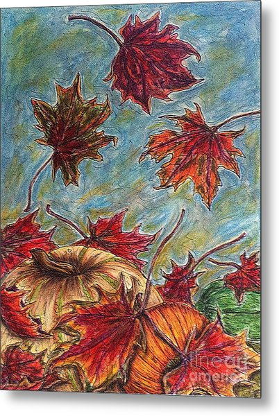 And The Leaves Came Tumbling Down Metal Print