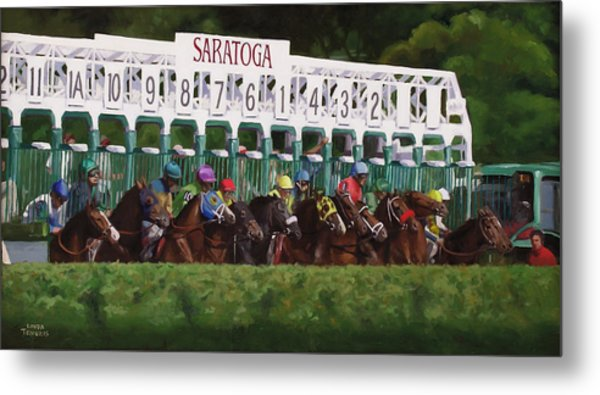 And Theyre Off Metal Print by Linda Tenukas