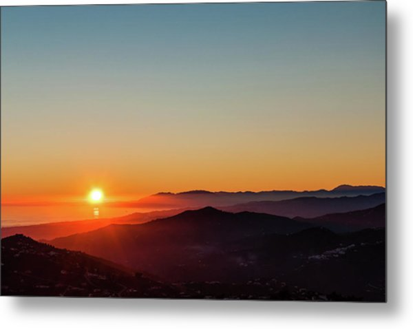 Andalucian Sunset Metal Print