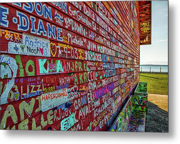 Metal Print featuring the photograph Anderson Warehouse Graffiti  by Susan Rissi Tregoning