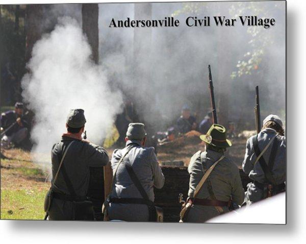 Andersonville Civil War Village Metal Print