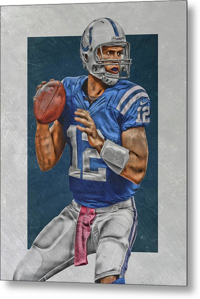 Andrew Luck Indianapolis Colts Art Metal Print