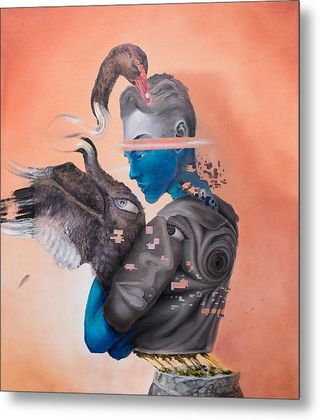 Metal Print featuring the painting Androgenetic by Obie Platon
