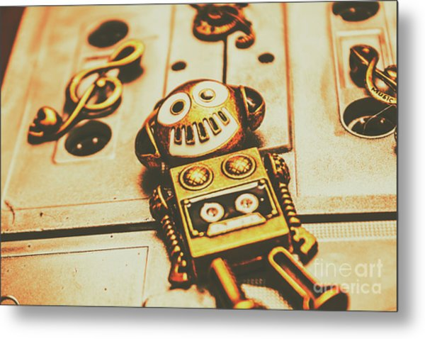 Android Rave Metal Print