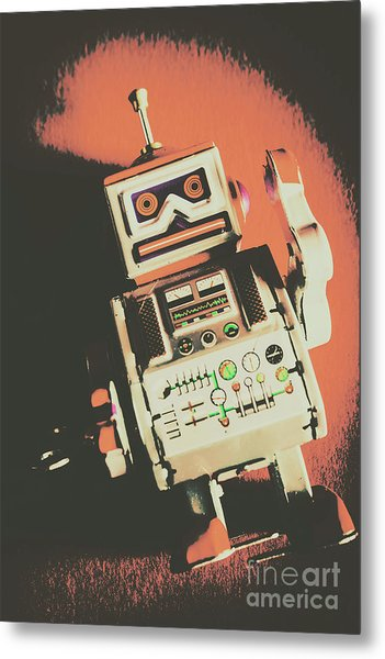 Android Short Circuit  Metal Print