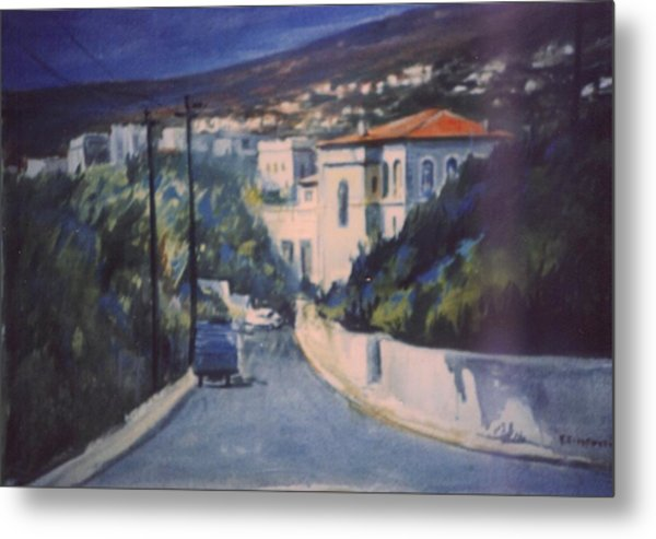Andros Metal Print by George Siaba