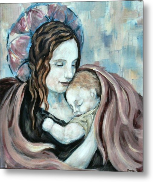 Angel And Baby No. 5 Metal Print