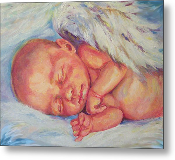 Angel Baby Metal Print by Peggy Wilson