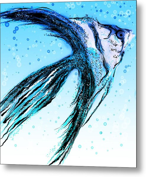 Angel Fish Art Metal Print