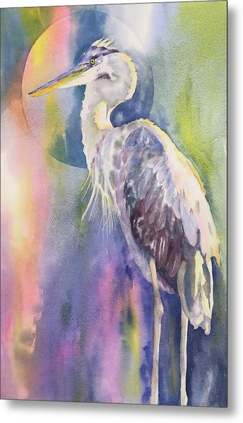 Angel Heron Metal Print