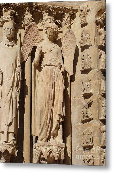 Angel In Reims Metal Print