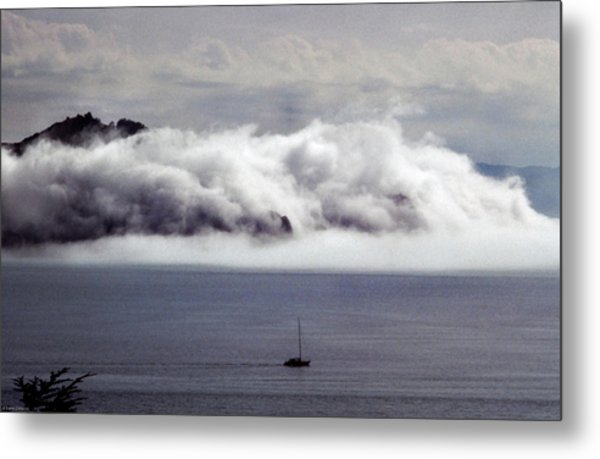 Angel Island Fog Metal Print