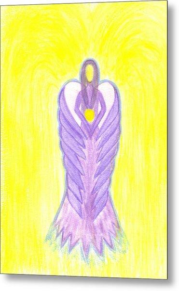 Angel Of Compassion Metal Print by Konstadina Sadoriniou - Adhen