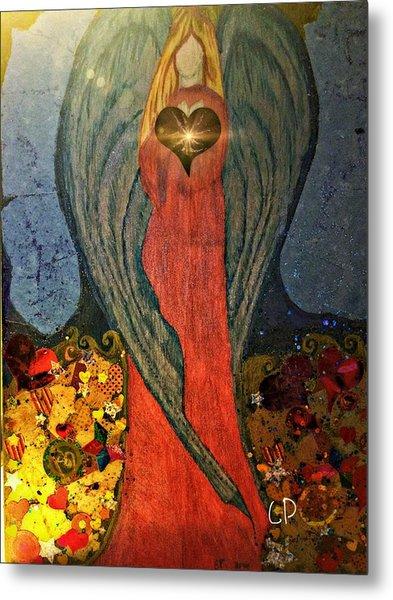 Angel Sails Waves Of Love Metal Print
