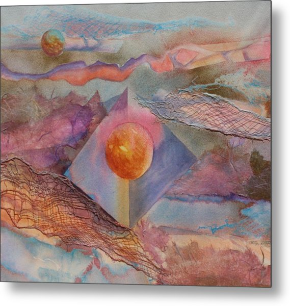 Angel Sphere Metal Print