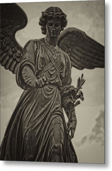 Angel Statue Bethesda Fountain Central Park Metal Print