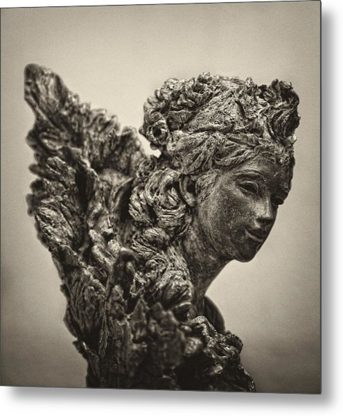 Angel Statue Metal Print by Robert Ullmann