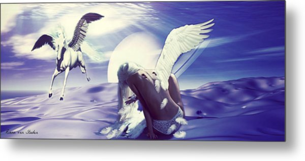 Angel With A Broken Wing Metal Print