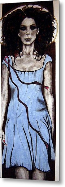 Angel With Ribbon Metal Print by Chrissa Arazny- Nordquist