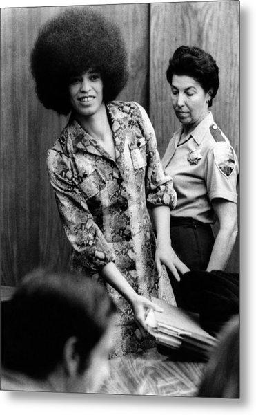 Angela Davis In Courtroom. She Metal Print
