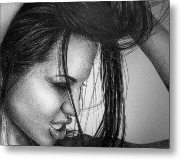 Angelina Jolie Metal Print by Jennifer Bryant