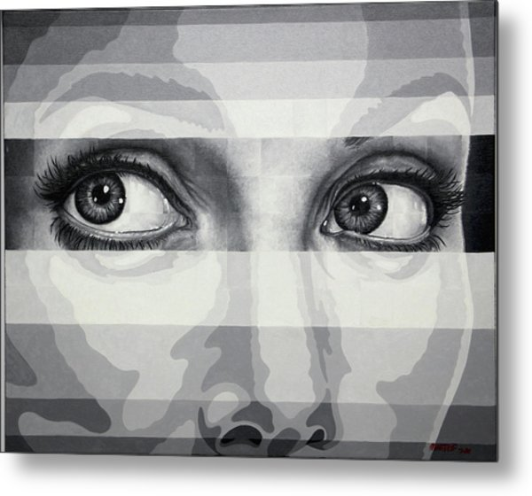 Angelina's Eyes Metal Print