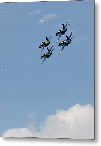 Angels Above The Clouds Metal Print