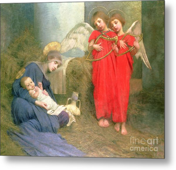 Angels Entertaining The Holy Child Metal Print