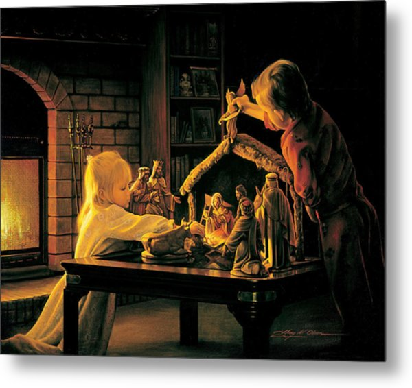 Metal Print featuring the painting Angels Of Christmas by Greg Olsen