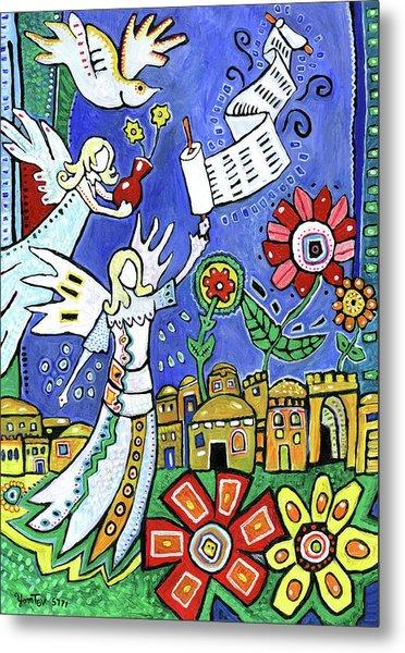 Angels Over Jerusalem Metal Print