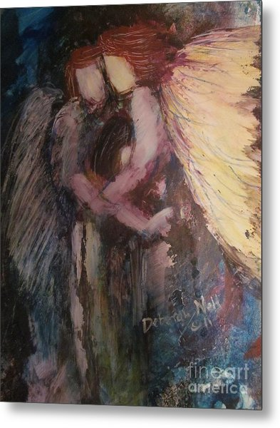 Metal Print featuring the painting Angels Watching Over Me by Deborah Nell