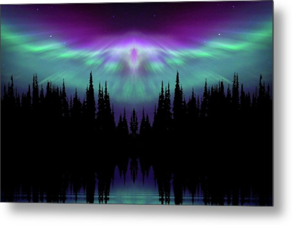 Angels Watching Over You Metal Print