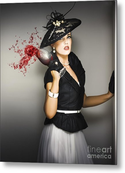 Angry Socialite In Fit Of Pique Metal Print