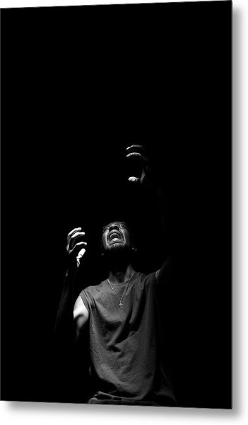 Metal Print featuring the photograph Anguish by Eric Christopher Jackson