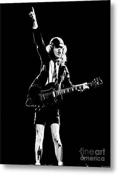 Angus Young Of Ac/dc 1983 Metal Print