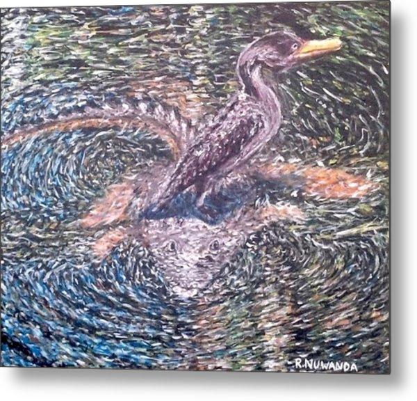 Anhinga Everglades Look Out Metal Print
