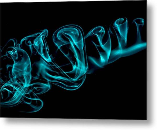 Artistic Smoke Illusion Metal Print